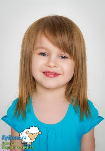 Стрижки детские на средние волосы с